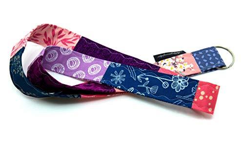 Lieblingsmanufaktur Umhängeband für Schlüssel, Werksausweis & Co. - viele individuelle Varianten, jedes Band ein Einzelstück Blau