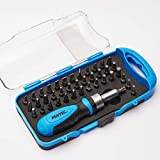 41 in 1 Small Screwdriver Set for Electronics - Ratcheting Screwdriver Bit Set - Magnetic Screwdriver Set - Tool Set Repair Phone, Computer, Camera, Toys and More