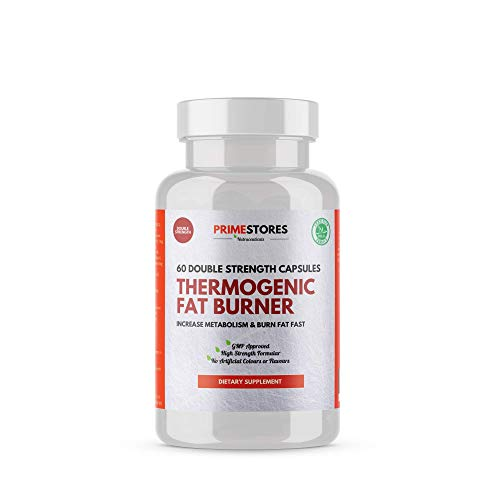 Thermogenic Fat Burner Tablets - 60 Weight Loss Capsules - High Strength Halal Keto Diet Slimming Burn Supplement Pills by Primestores