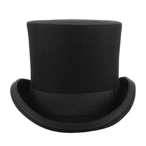 GEMVIE Zylinderhut Magic Partyhüte Erwachsenenhut Hoher Hut für Damen Herren XL Kopfumfang 60cm-62cm