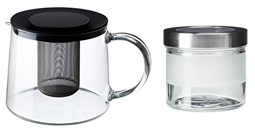IKEA RIKLIG Teekanne aus Glas - mit Zubehör (SET1)