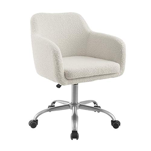 Winport Furniturewinport Furniture Mid Back Leather Armless Office Home Desk Chair Cream Dailymail