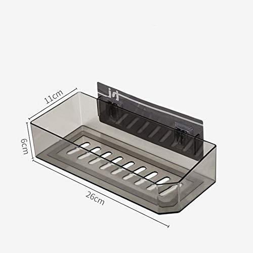 Badkamer plank muur gemonteerd eenvoudig te installeren Cup houder verwijderbare badkamer plank Punch Home Decor zelfklevende douchecabine mand keuken opslag