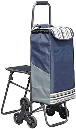MUY Shopping Trolley Stairs Carrito de Compras Puede Sentarse Carrito de la...