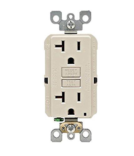 Leviton GFNT2-KT R96-GFNT2-0KT SmartlockPro Self-Test GFCI, Pack of 1