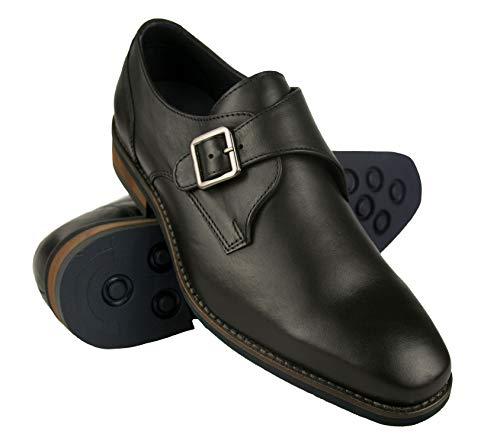 Zapatos de Piel para Hombre |Zapatos de Vestir Hombre | Zapatos Hombre Vestir Piel | Zapatos Hombres Traje| Monk Hombre | Zapatos Hebilla Hombre