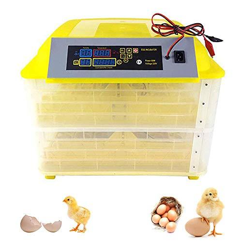 MJLXY Vollautomatische Eier Inkubator, Inkubatoren für Geflügeleier 112 Brutmaschine Vollautomatisch Digitale Inkubatoren Ei-Inkubator Für Huhn, Ente, Gans, Taube, Wachtel