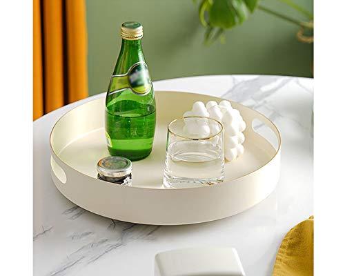 Iron Lazy Susan - Organizador de especias para gabinete, rotación de 360 ° con asas, mesa giratoria portátil para despensa, nevera, encimeras, cocina, baño