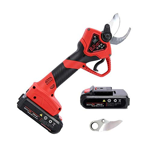 Buy Bargain CPPK Cordless Electric Pruning Shears,Powered by Rechargeable 2Ah Lithium Battery,30mm (...