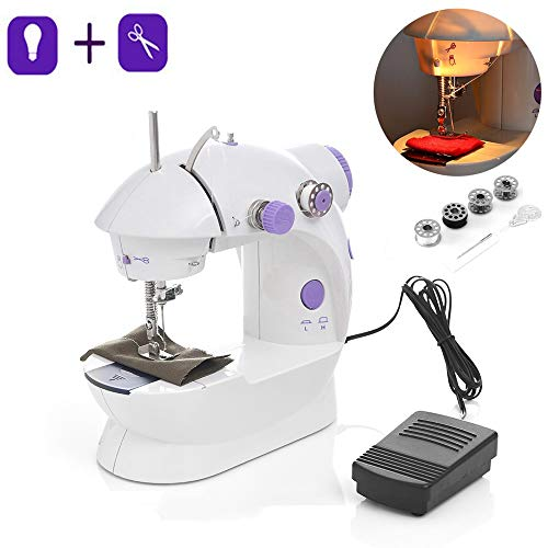 Fantastic Prices! GQQG Mini Sewing Machine for Beginners Portable Crafting Mending Machine Heavy-Dut...