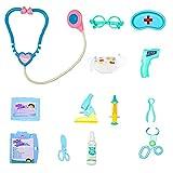 Doctor Juguete Kit Niños Finge Finger Doctor Enfermera Juguetes Plástico Azul Play Toy Set Regalos Jeringa Sistema de vidrios 13pcs Fine Workmanship