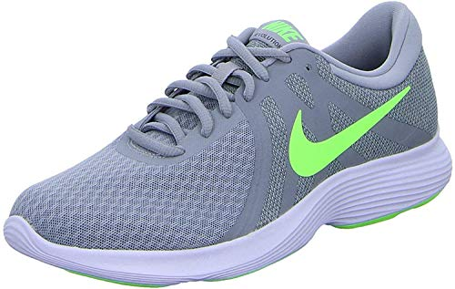 Nike Revolution 4, Zapatillas de Atletismo Hombre, Multicolor (Wolf Grey/Lime Blast/Cool Grey/White 016), 45 EU