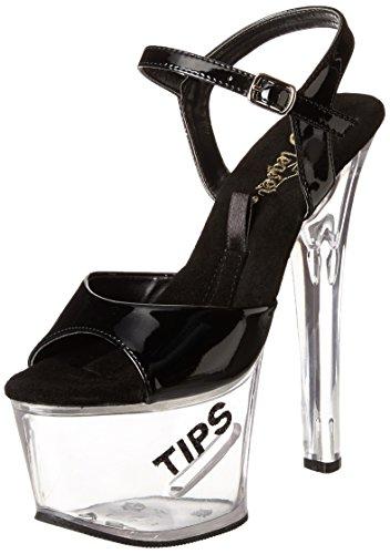 Pleaser Tipjar-709-5 - Sexy Plateau High Heels Sandaletten mit Tip-Slot 35-45, Größe:EU-44 / US-13 / UK-10