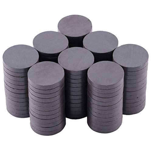 Small Magnets for Crafts - 100 Round Grade 5 Strong Magnets – 13/16 Inch (20mm x 3mm) - Great for Creating Fridge Magnets and Other Magnetic Craft Projects