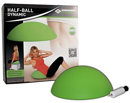 Schildkröt Fitness Half-Ball Dynamic, Balancetrainer, inkl. Handpumpe & Übungsposter, 960038