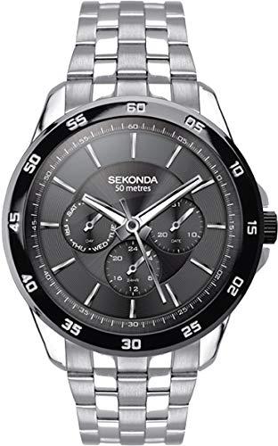 Sekonda Watches Orologio Multi-quadrante Quarzo Uomo con Cinturino in...