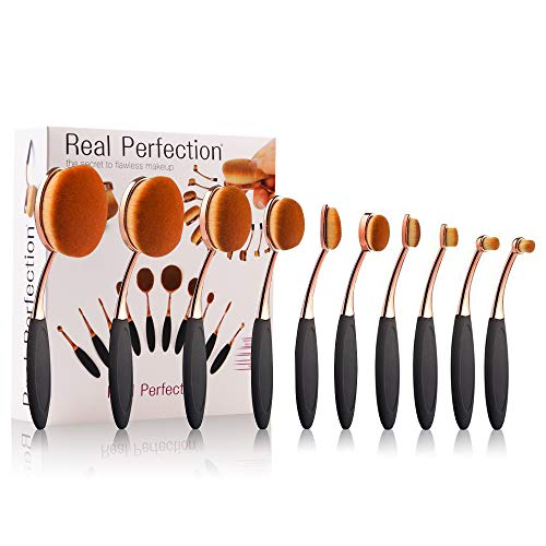 Makeup Brushes Set 5pcs Professional Oval Toothbrush Foundation Contour Powder Blush Concealer Eyeliner Blending Brush Cosmetic Make UP Brushes Tool Set