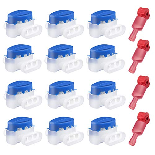 Boloest 12Pcs Cable Connector Waterproof 3 Holes Electrical Wire...