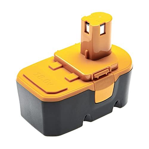 vhbw NiMH batería 1300mAh (18V) para herramienta eléctrica powertools tools Ryobi LCD1802, P200, P202, P210, P2100, P2105, P211, P220, P221, P230