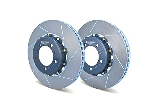 GIRODISC (A1-032) FRONT BRAKE ROTOR KIT SLOTTED FOR PORSCHE 996C4S, 996TT, 997C2S/C4S, CAYMAN PCCB