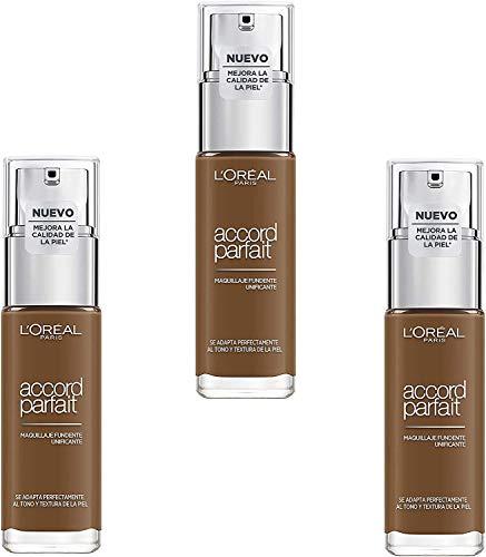 L'Oréal Paris Fond de Teint Fluide Accord Parfait 9.R / 9.C Foncé Froid, lot de 3 (3 x 30 ml)