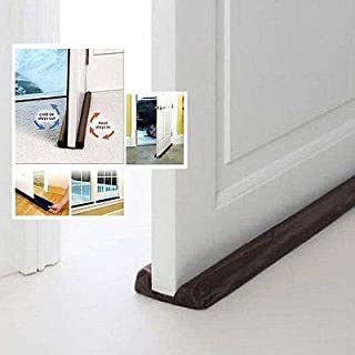 Yunnyp Door Stop Protector Dust,Twin Door Draft Dodger Guard Stopper Protector Under Door Draught Excluder Hot