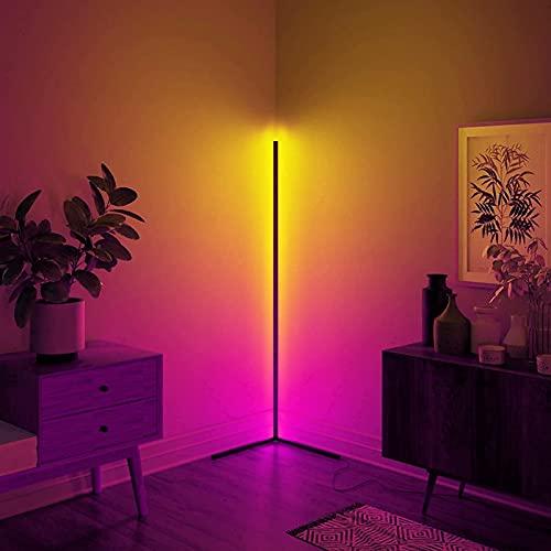 Lampadaire LED à Intensité Variable avec Télécommande Salon Fête Luminosité Réglable Lumière d'Atmosphère à Changement Couleur Minimaliste pour Chambre à Coucher de Salon,RGB Clairage Décoratif Lampe