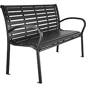 TecTake 403213 Premium Gartenbank, 3-Sitzer, Hips Sitzbank, widerstandsfähig, bis 200 kg belastbar, 126 x 62 x 81,5 cm…