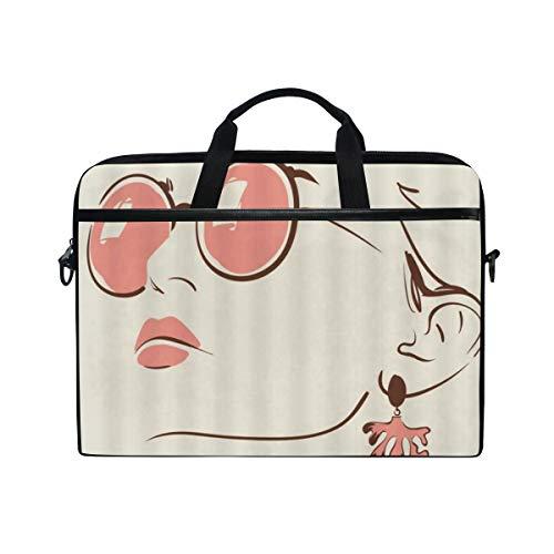 LOSNINA Laptop Tasche 15-15.4 Zoll,Berühmter Filmstar Audrey Hepburn Retro Woman Elegant Painted Abstract Classic Romantic,Neue Drucken Muster Aktentasche Schulter Messenger Handtasche Case Sleeve