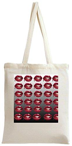Lips Print Tote Bag