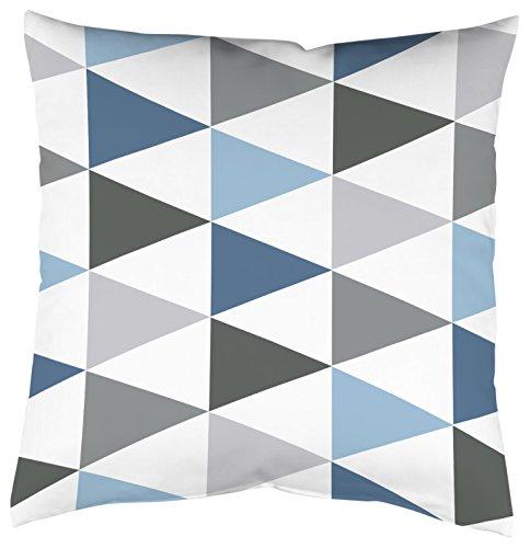 Home Fashion Kissenhülle Digitaldruck, Samt, blau, 1 x 50 x 50 cm