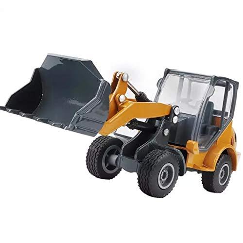 IIIL 1:60 Cargador Ruedas Modelo Bulldozer Camión Ingeniería Aleación, Modelo Automóvil Cargador Frontal Tractor Construcción Regalos Juguete para Niños,Rojo
