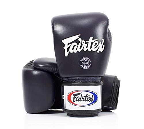 Fairtex Muay Thai guantes de boxeo. bgv1-br transpirable guantes. Color: Solid negro. Tamaño: 121416oz. Entrenamiento, guantes de boxeo para boxeo, Kick Boxing, MMA - LYSB01IW7PQR4-SPRTSEQIP, Azul