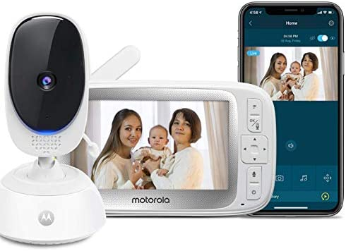Motorola Connect40 Video Baby Monitor 5 Parent Unit and HD Wi Fi Viewing for Baby Elderly Pet product image