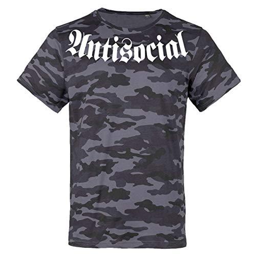Männer und Herren Tarn T-Shirt Camo Antisocial Boots Größe S - 3XL