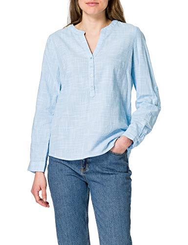 TOM TAILOR Damen 1024168 Structure Bluse, 15592-Clear Light Blue, 46