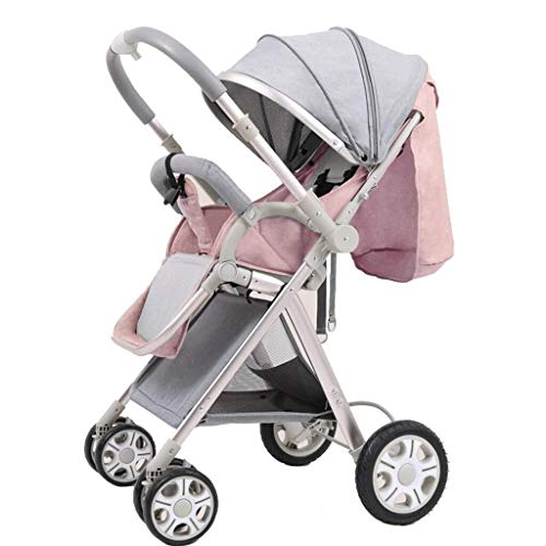 Lowest Price! TZZ Baby Stroller High View Prams Folding Pushchairs with Safe Five-Point Harness and ...