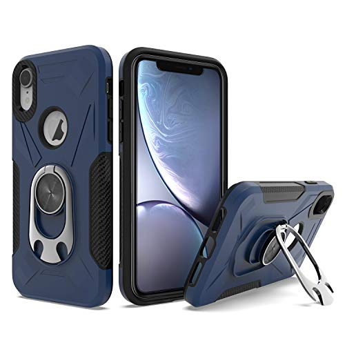 UNC Pro 2 in 1 Cell Phone Case with Bottle Opener Kickstand for iPhone XR, TPU Hybrid Shockproof Bumper Anti-Scratch Dual Layer Case, Blue