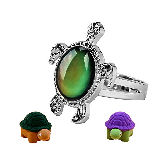 Mood Ring for Kids Adjustable Size Girls and Boys Color Changing Mood Rings