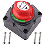 LotFancy Interruptor Desconexión de Aislador de Batería Impermeable 6V 12V 24V 48V 60V para Coche, Marina, Barco, Náuticos, RV, ATV, UTV, 275/1250 Amperios