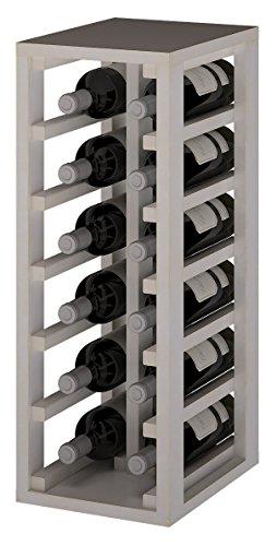Expovinalia Ew2010 Weinregal aus Kiefernholz für 12 Flaschen, Weiß