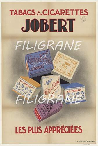 PostersAndCo TM JOBERT Zigarettenanzünder, Tabak, Rpls-Poster/Nachbildung, 40 x 60 cm, d1, Vintage/Retro