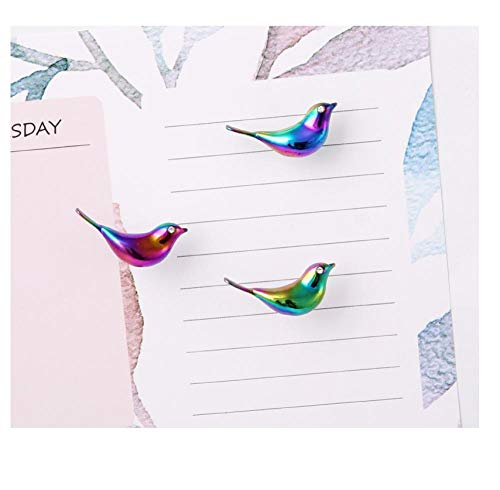 Kleurrijke serie vliegende vogels, vogel pushpins, metalen fotomuurnagels, kurknagels in vogelvorm