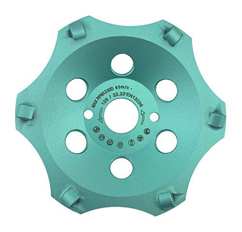 PRODIAMANT Profi PKD Diamant-Schleiftopf 125 mm x 22,2 mm 6 Segmente Diamantschleiftopf PDX829.793 125mm passend Winkelschleifer