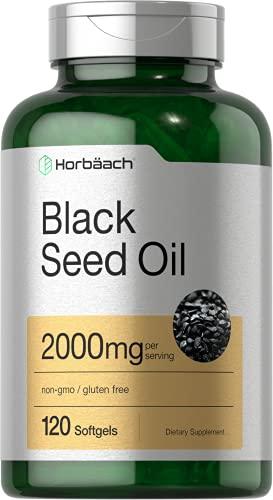 Black Seed Oil 2000mg | 120 Softgel Capsules | Cold Pressed Nigella Sativa Pills...