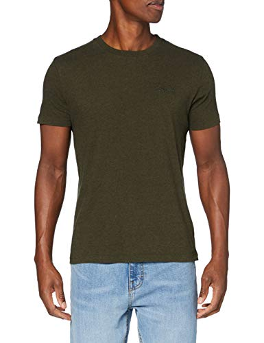 Superdry OL Vintage Emb tee Camiseta, Arena De Color Caqui De Invierno,...