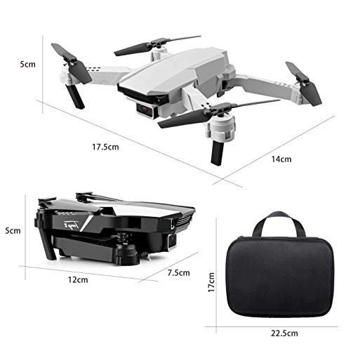 Goolsky S62 RC Drohne mit Kamera 4K WiFi FPV Doppelkamera Drohne Mini Falt Quadcopter Spielzeug für Kinder mit Schwerkraftsensor Steuerung Spur Flug Headless Modus Not-Aus Geste Foto Video Funktion