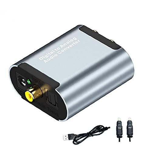 Digital to Analog Audio Converter Optical Toslink a RCA L/R con cable óptico 3.5mm Jack DAC Converter para PS4 Xbox TV Herramientas de DVD gratis