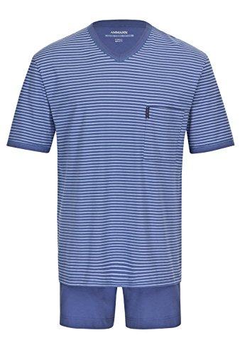 Herren Schlafanzug kurz Extra Light Cotton Blau 56