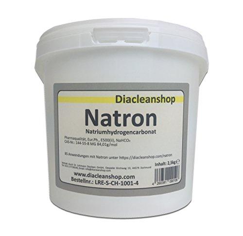 Natron 2,5 kg in pharmazeutischer Qualität – Natriumhydrogencarbonat (E500ii) - Backsoda - Bakingsoda - Basenbad - Hausmittel zum Backen, Reinigen, Baden, Gerüche Neutralisieren & DIY-Kosmetik